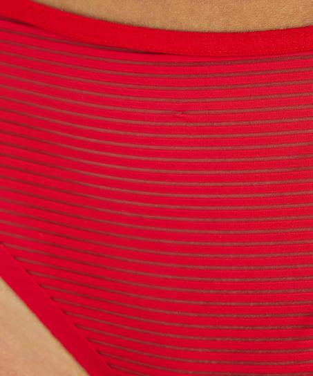 Invisible String Stripe Mesh , Rot