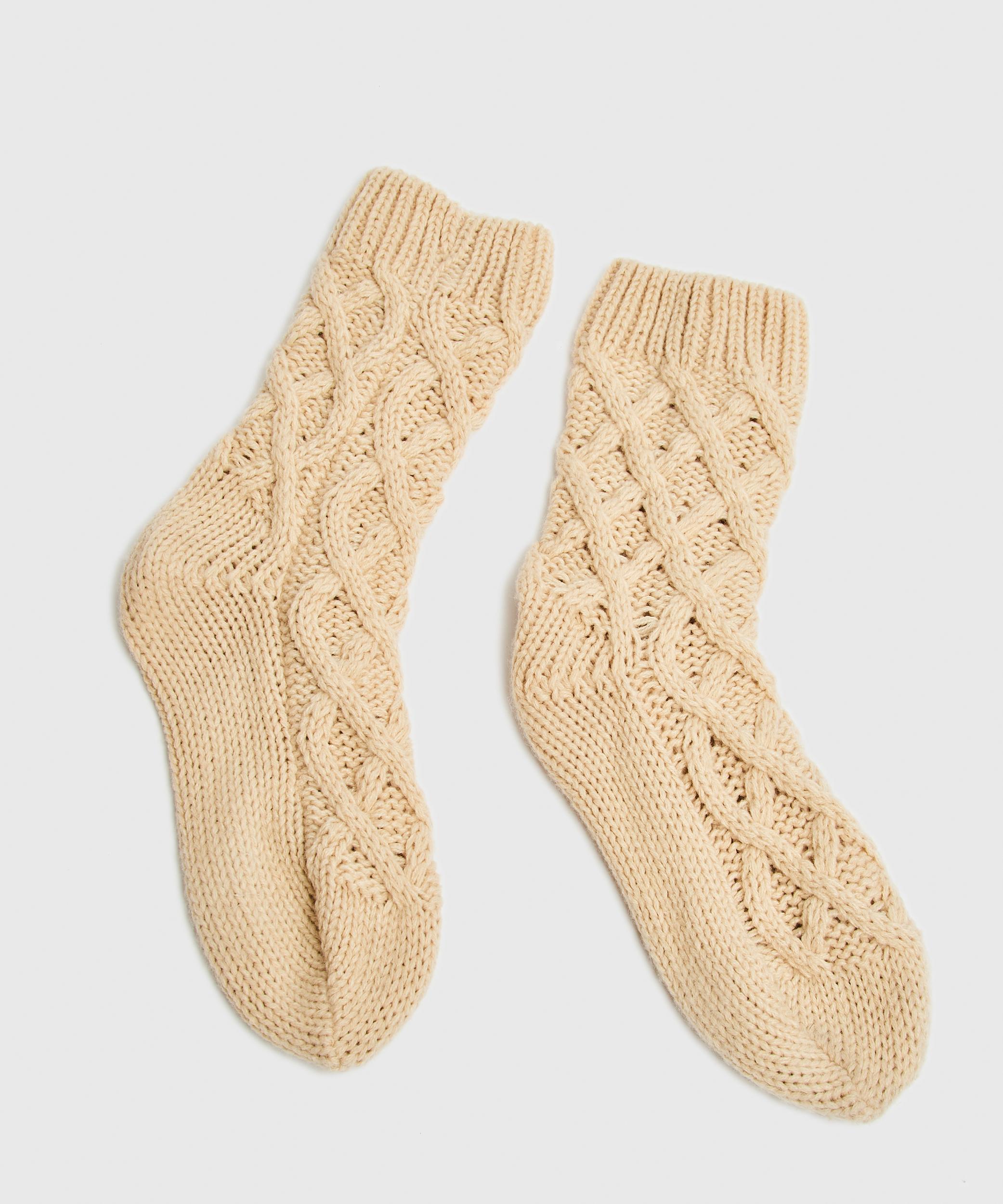 Socken Knit, Beige, main