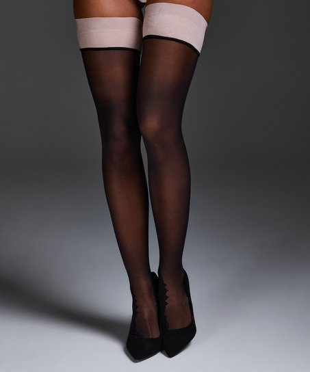 Noir Stay-up Delicate Lace, Rose