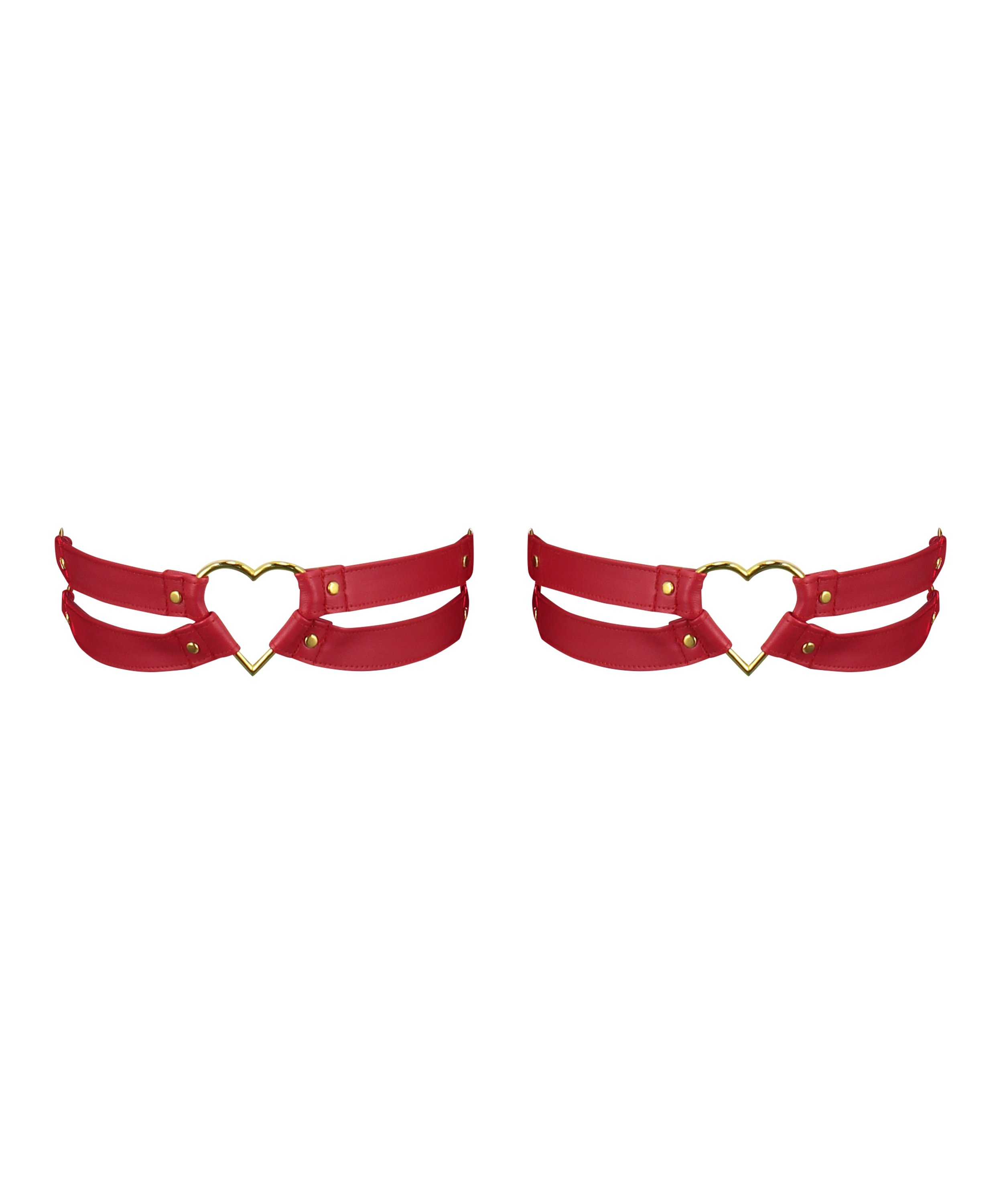 Privat Hold-up-Strapse Heart, Rot, main