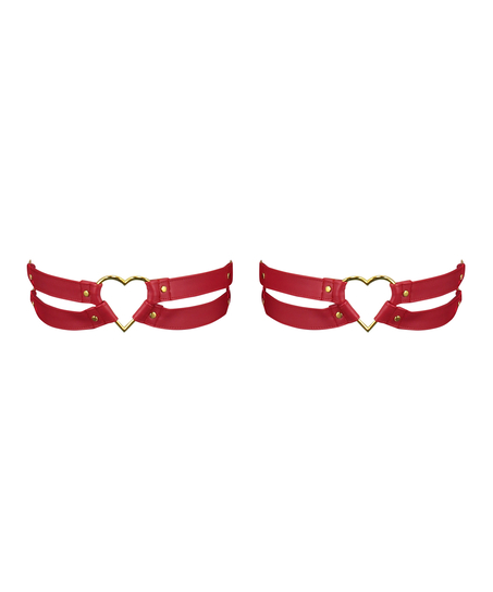 Privat Hold-up-Strapse Heart, Rot