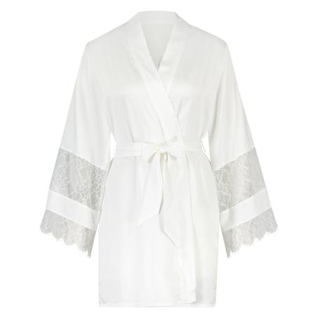 Satin-Kimono Bridal, Weiß