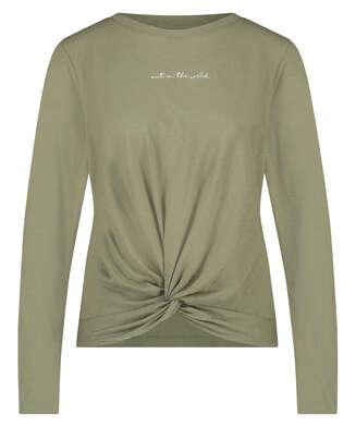 Langarm-Top Jersey Knot, grün