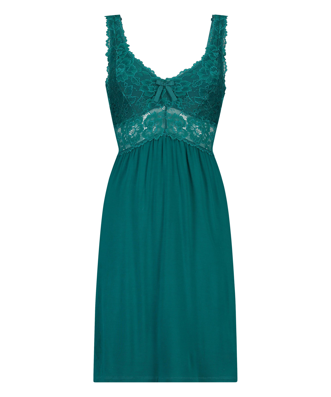 Slipdress Modal Lace, grün, main