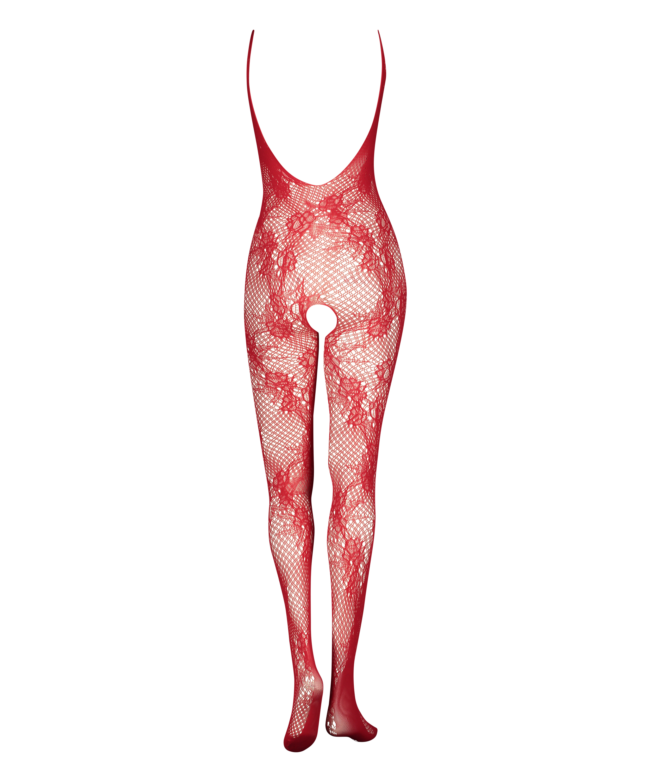 Private Catsuit aus offener Spitze, Rot, main