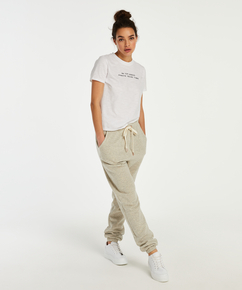 Pyjamatop langärmelig Jersey, Weiß