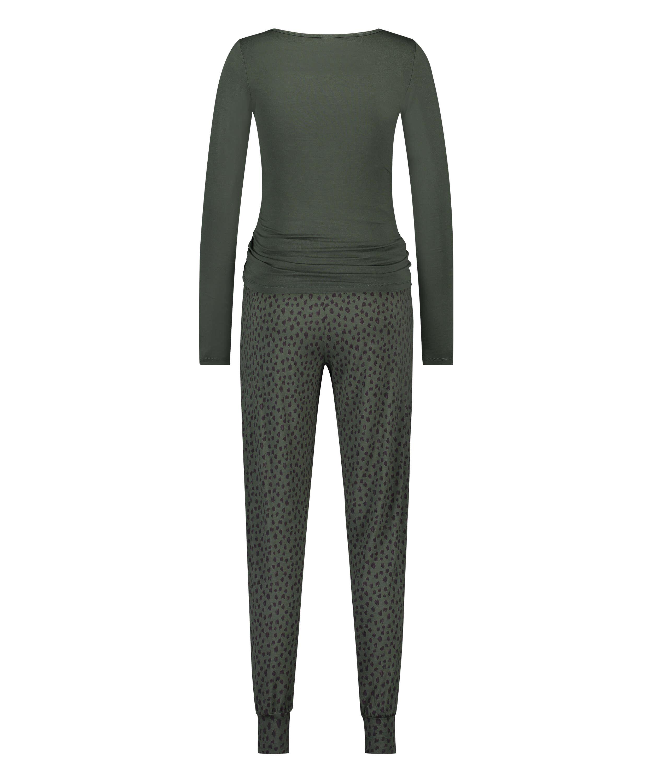 Pyjamaset Lace Dot Leopard, grün, main