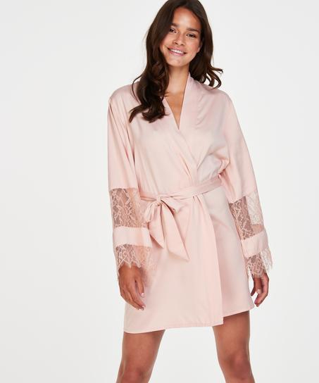 Satin-Kimono Bridal, Rose