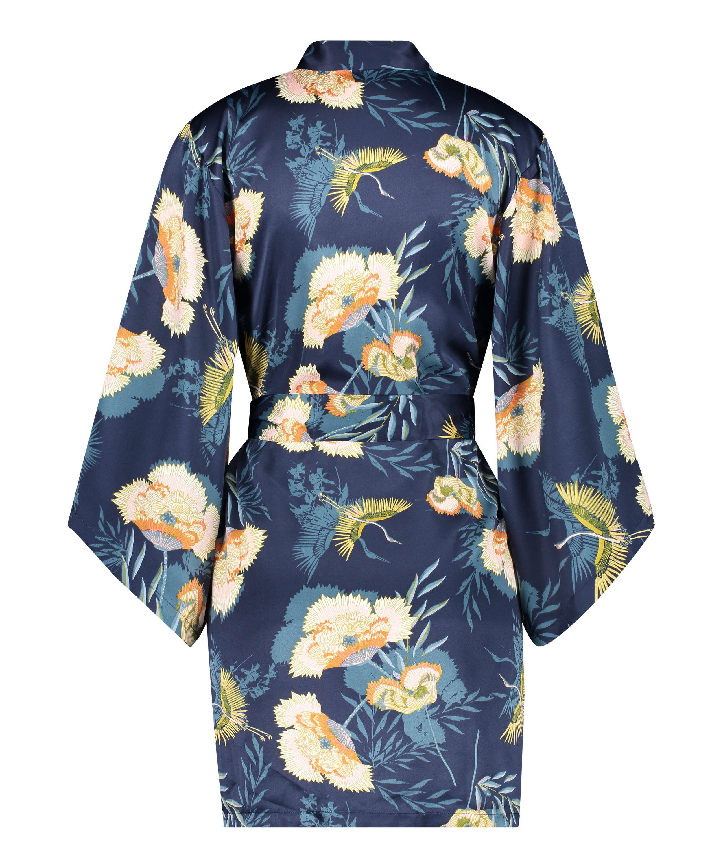 Kimono Lotus Vogel, Blau, main
