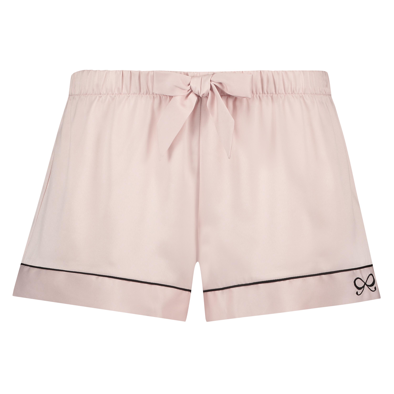 Pyjamashorts Satin Lace, Rose, main