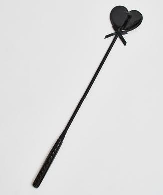 Private Peitsche im Lederlook, Schwarz
