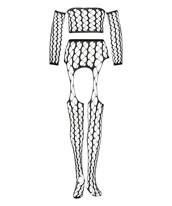 Private Fishnet Set Graphic, Schwarz, main