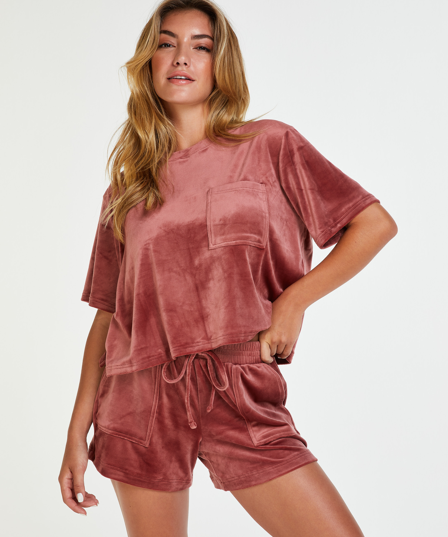 Shorts Velours Pocket, Rose, main