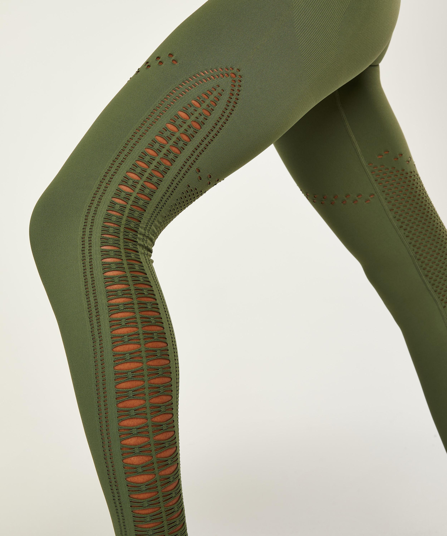 HKMX Karma Nahtlose hoch taillierte Leggings, grün, main