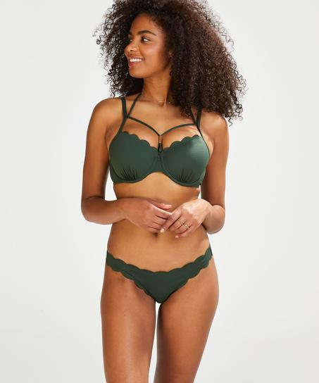 Frecher Bikini-Slip Scallop Glam, grün