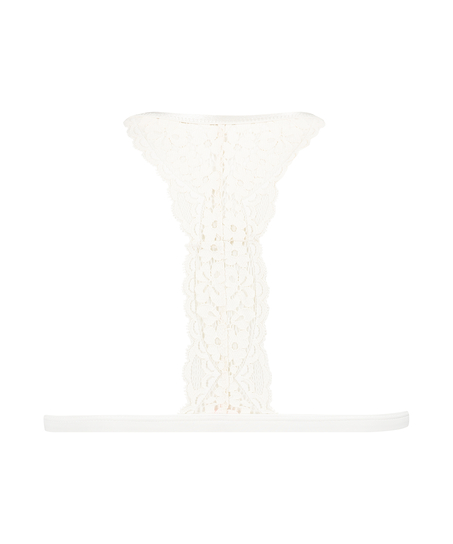 Vorgeformter Triangel-Bralette Rose, Weiß
