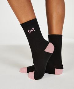 2 Paar Socken Bow, Schwarz