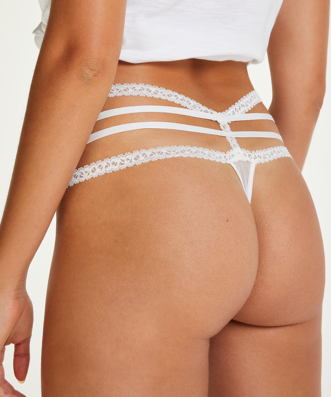 Extra niedrige String Lorraine, Weiß, main