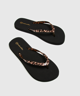 Slippers Fancy, Schwarz