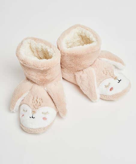Pantoffeln Kaninchen, Beige
