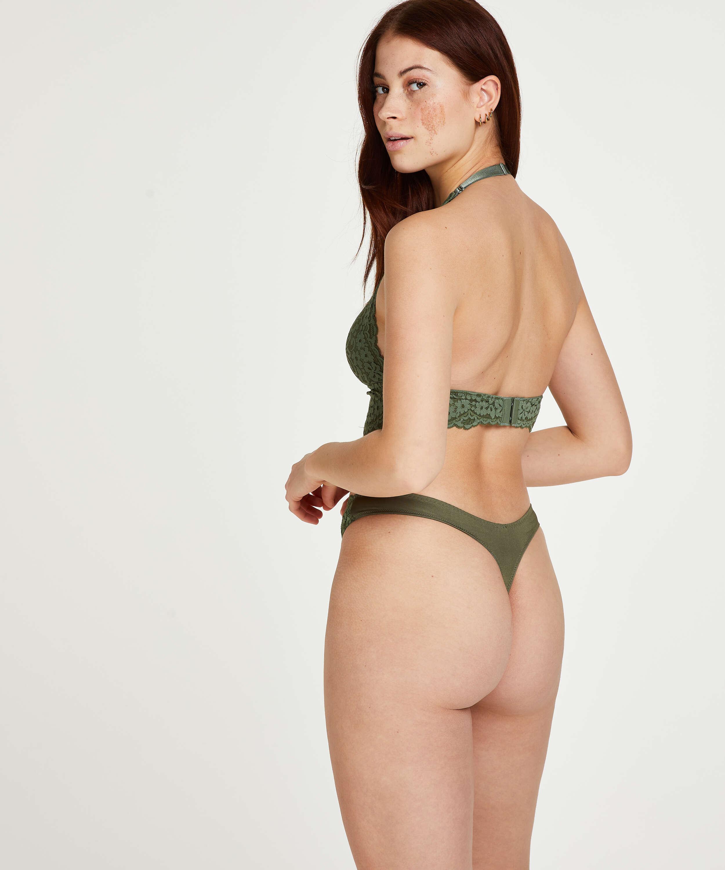 Vorgeformter Neckholder-Bralette Rose, grün, main