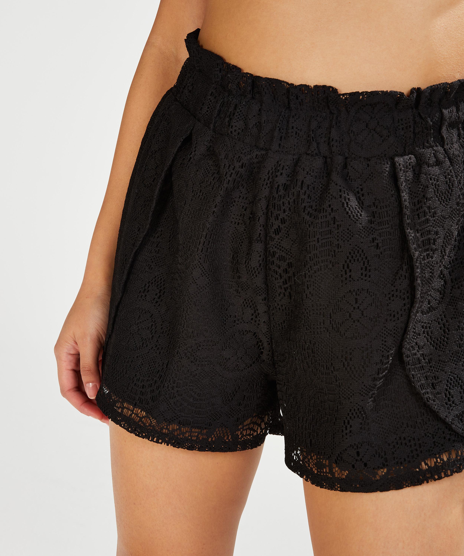 Shorts Lace, Schwarz, main
