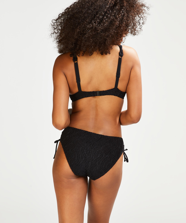 Rio Bikini-Slip Crochet, Schwarz, main