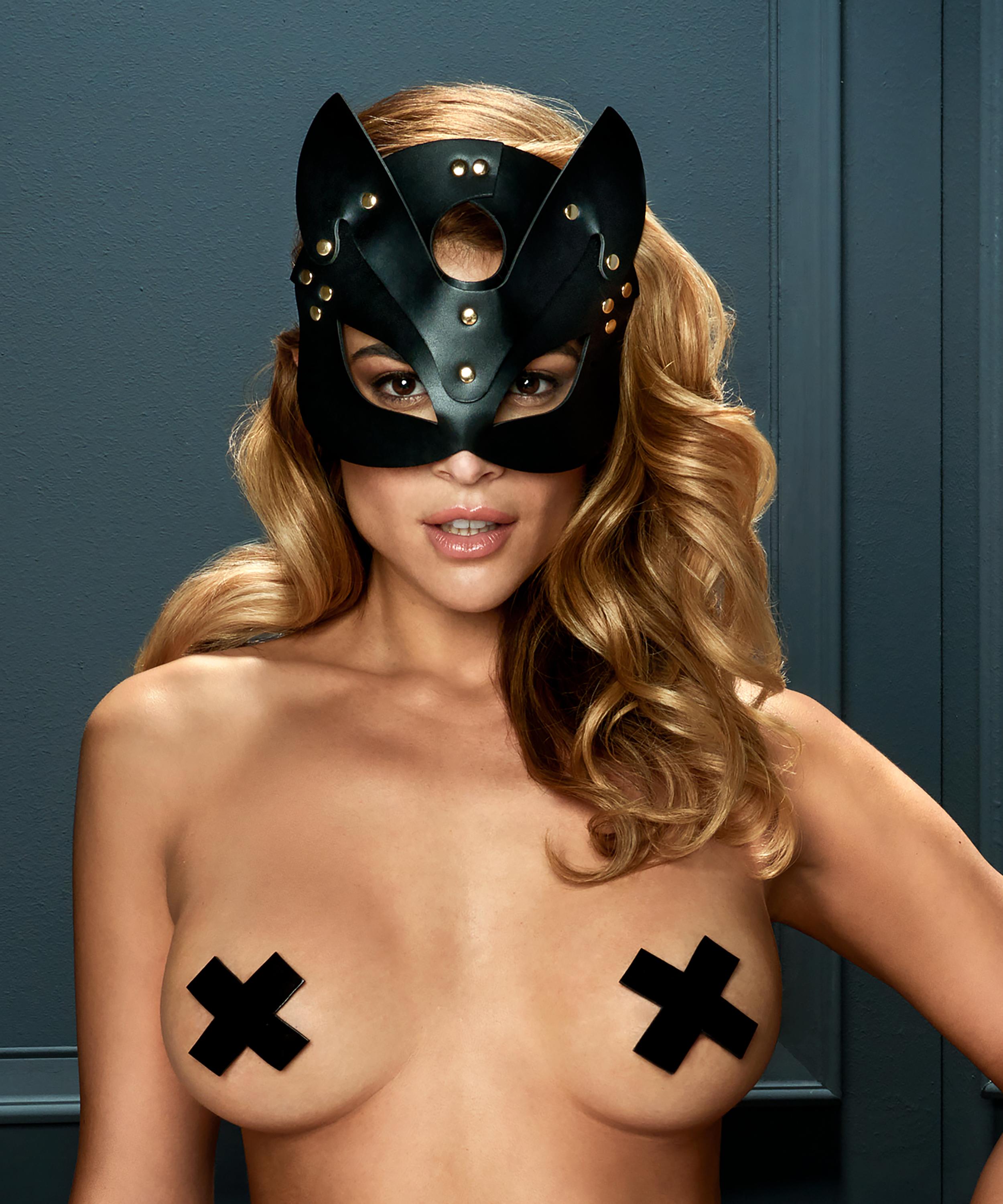 Private maske Kitten, Schwarz, main