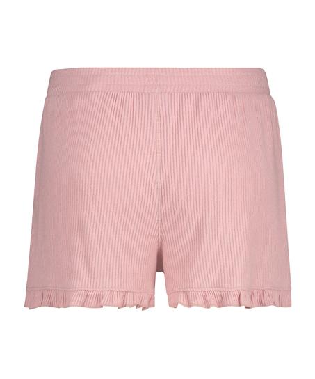 Shorts Brushed Rib Lace, Rose