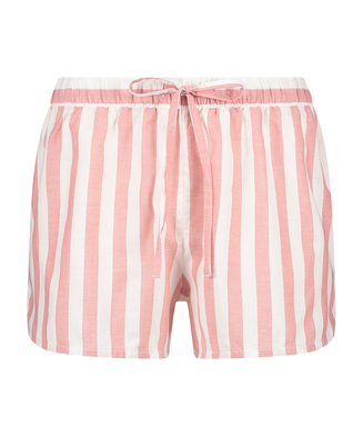 Shorts Chambray Stripe, Rose