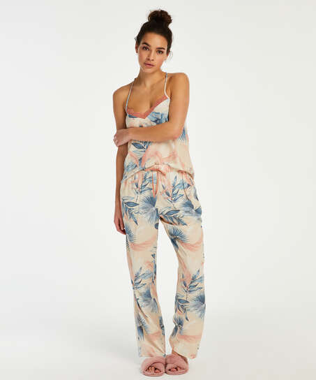 Pyjamahose Woven, Beige