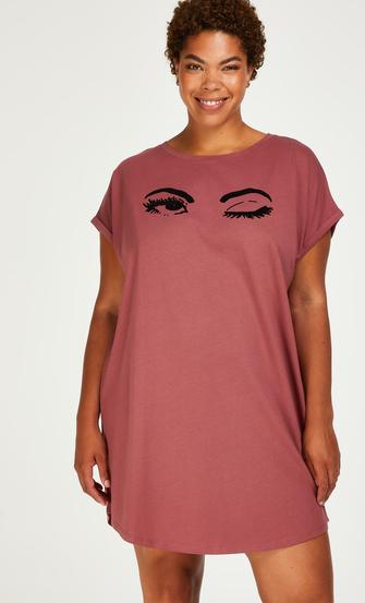 Nachthemd Rundhalsausschnitt, Rose
