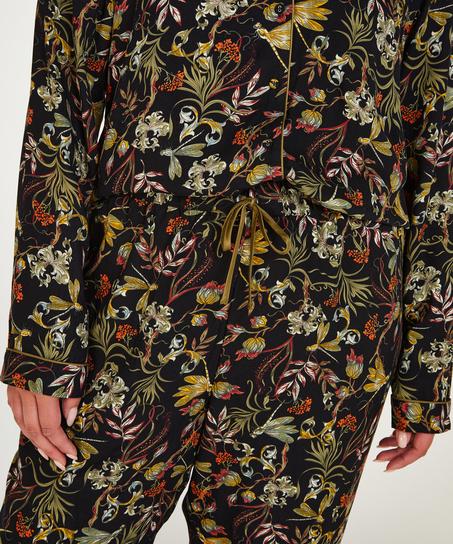 Pyjamahose Woven, Schwarz