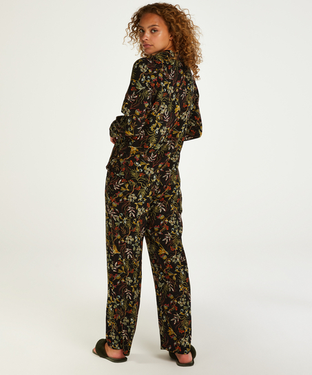Pyjamatop langärmelig Dragonfly, Schwarz