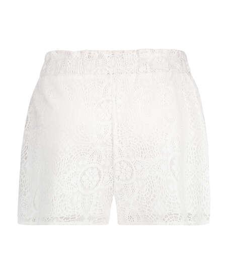 Lace kurze Hose, Weiß