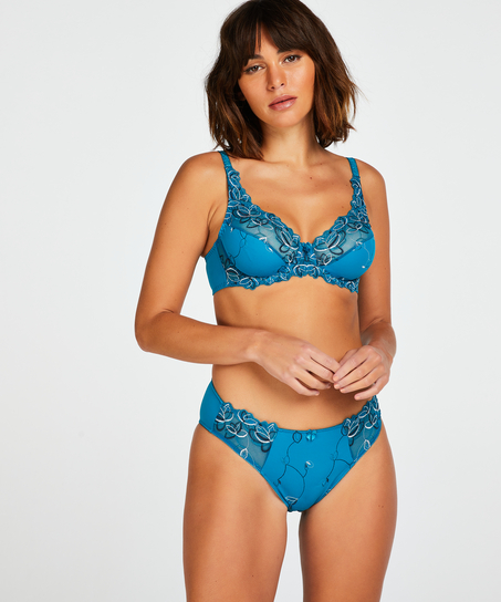 Unwattierter Bügel-BH Diva, Blau