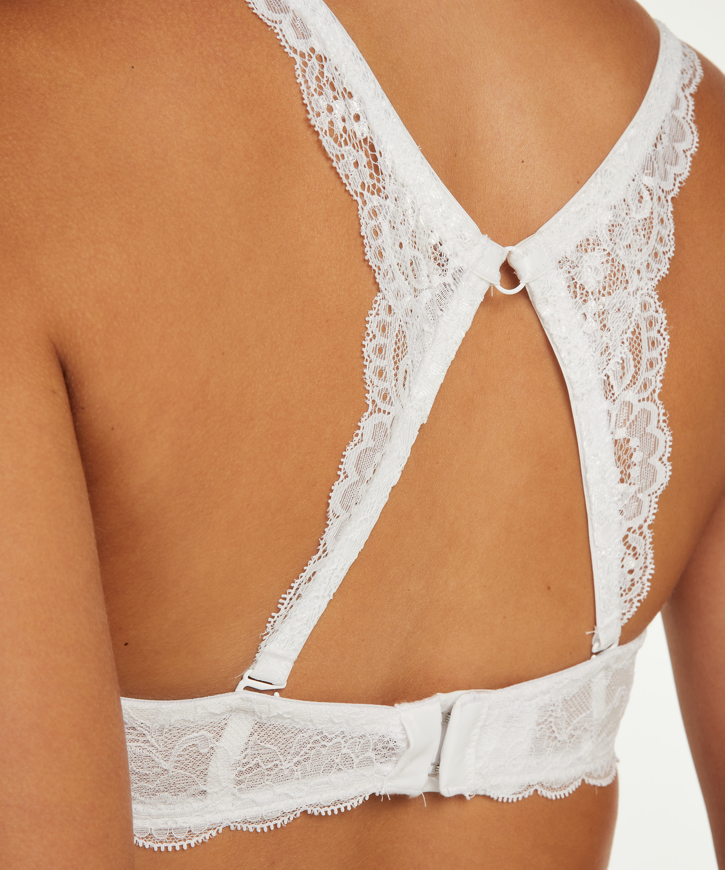 Lace-Back-Detail, Weiß, main