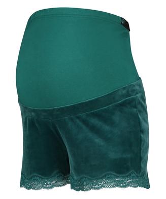 Schwangerschafts-Shorts Velours, Grau