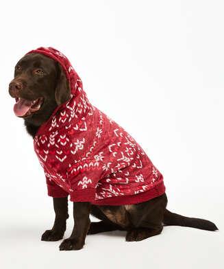 Fleece Hunde-Onesie, Rot