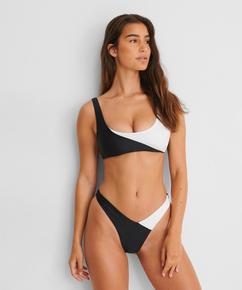 Bikini Crop Top 2Tone HKM x NA-KD, Weiß