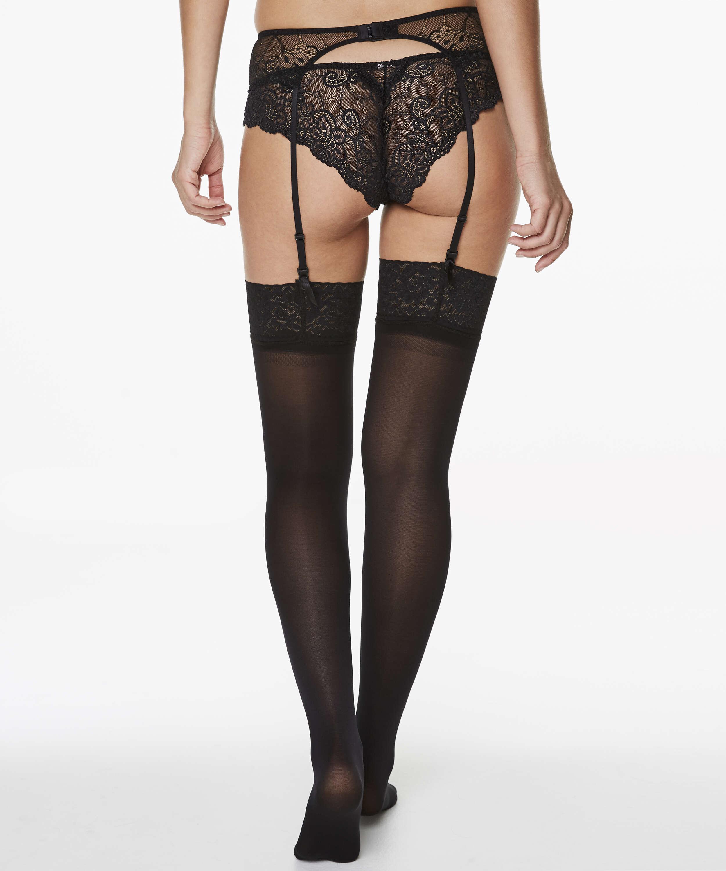 Stockings 50 Denier Lace, Schwarz, main