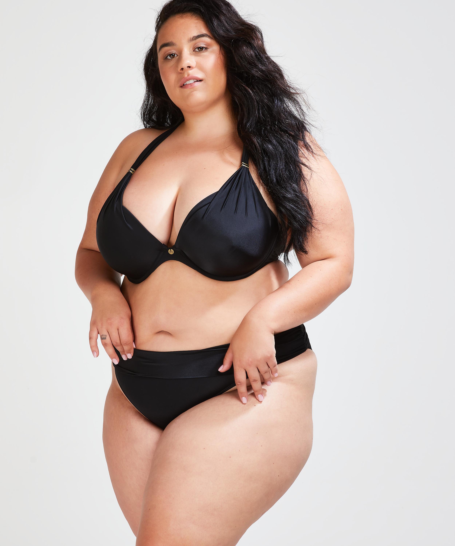 Vorgeformtes Bügel-Bikini-Top Sunset Dreams Cup E +, Schwarz, main