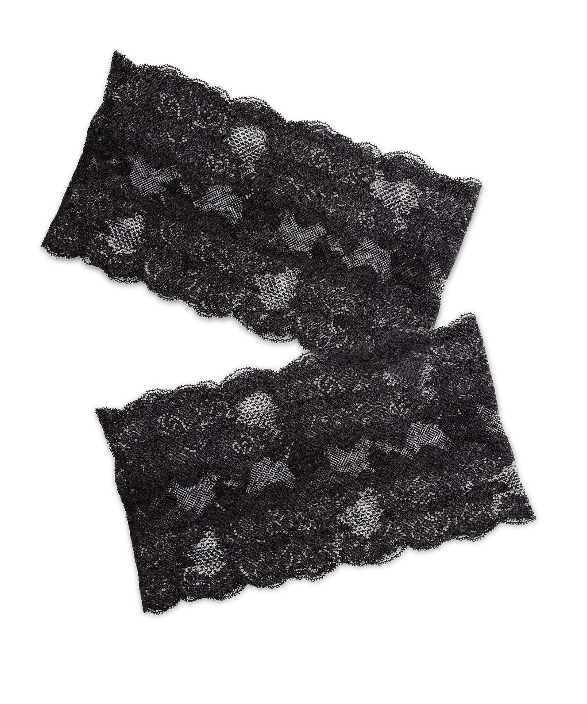 Oberschenkelband aus Spitze, Schwarz, main