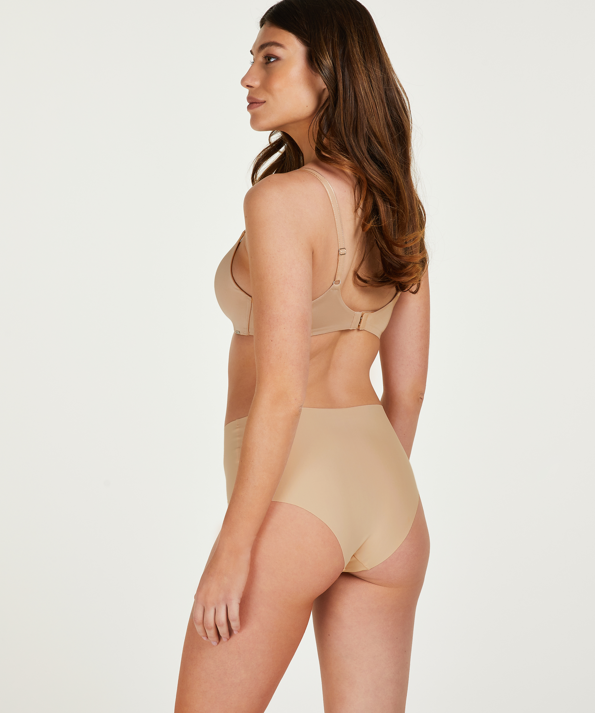 Invisible High-waist Brazilian, Beige, main