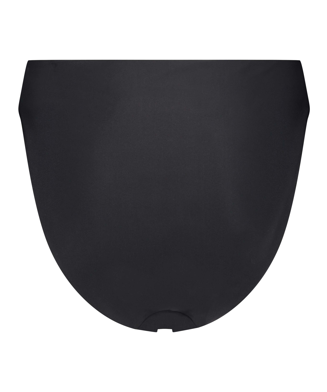 Bikini-Slip mit hohem Beinausschnitt Black HKM x NA-KD, Schwarz, main