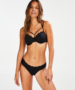 Vorgeformtes Bügel-Bikinitop Scallop Glam, Schwarz