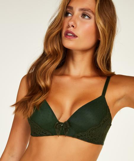 Vorgeformter BH ohne Bügel Kate, grün