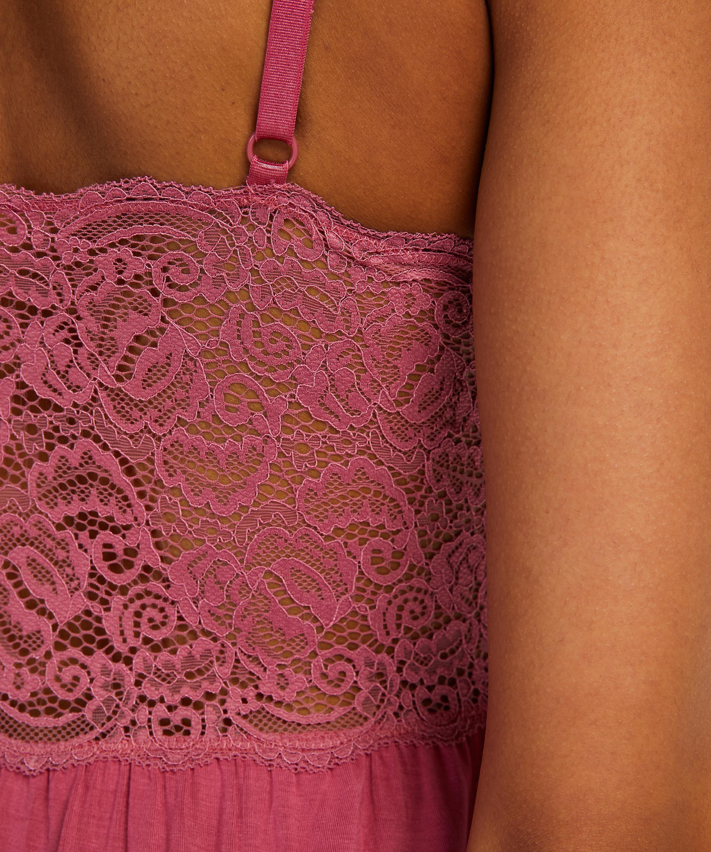 Slipdress Jersey Lace Vera, Rose, main