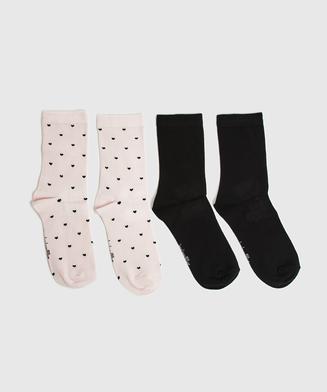 2P Socken Viskose, Rose