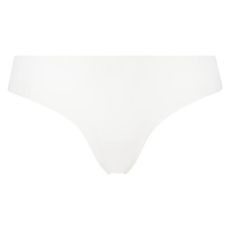 Invisible String aus Baumwolle, Weiß